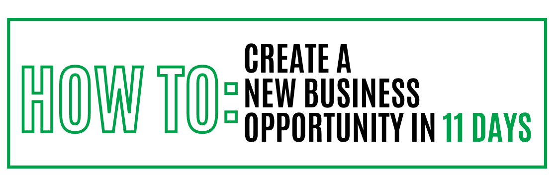 How to: Create a New Business Opportunity in 11 Days