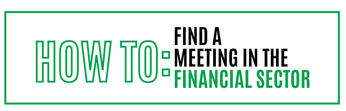 How to: Find a meeting in the financial sector